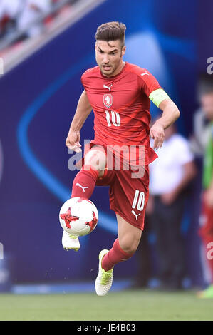 Michal Travnik during the UEFA European Under-21 match between Czech Republic and Italy on June 21, 2017 in Tychy, - Stock Photo