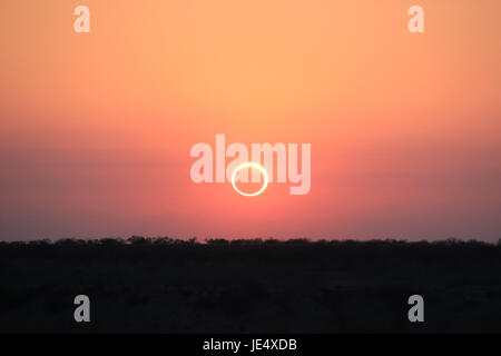Ring of Fire Solar Eclipse #16 - Stock Photo