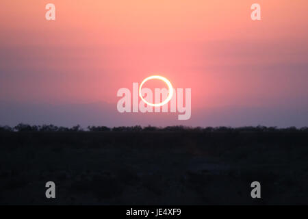 Ring of Fire Solar Eclipse #12 - Stock Photo