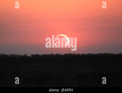 Ring of Fire Solar Eclipse #10 - Stock Photo