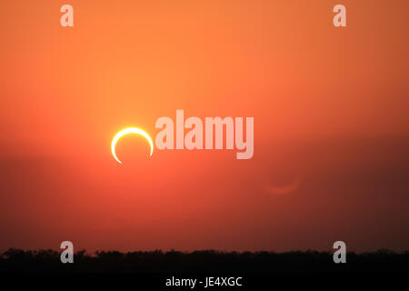 Ring of Fire Solar Eclipse #8 - Stock Photo