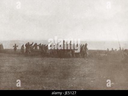 German soldiers surrendering WW 1 - Stock Photo