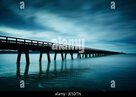 Tolaga bay Wharf , East coast - Stock Photo