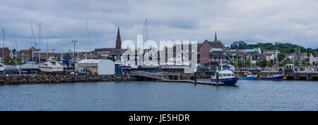Bangor marina and harbour - Stock Photo