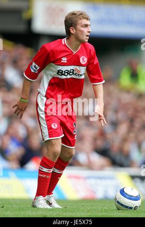 JAMES MORRISON MIDDLESBROUGH FC WHITE HEART LANE TOTTENHAM 20 August 2005 - Stock Photo