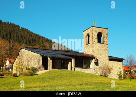 Heilig Geist Kirche Oberjoch Bayern Deutschland / Church of Holy Spirit Oberjoch Germany - Stock Photo