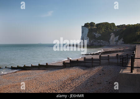 White Cliffs of Dover (view from the beach) - Stock Photo