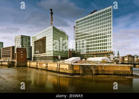 Germany, Hamburg, harbour city, Ericusspitze, publishing company, reflector, - Stock Photo