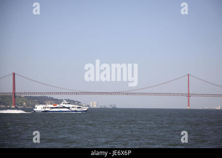 Portugal, Lisbon, Ponte 25 de Abril, - Stock Photo