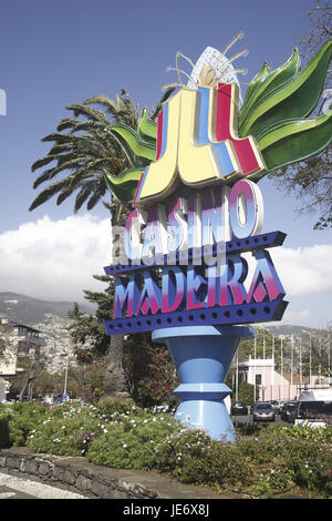 Portugal, Madeira, Funchal, casino, - Stock Photo