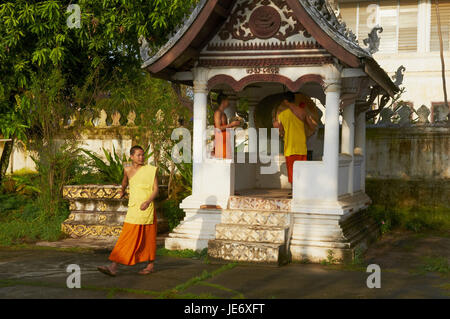 Laos, province of Luang Prabang, city of Luang Prabang, monks, Stock Photo