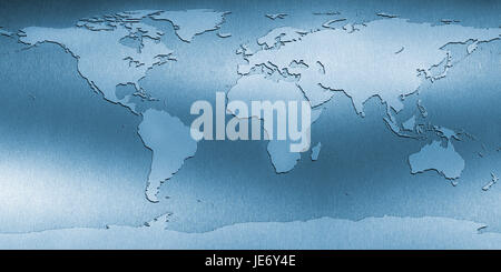 Map of the world, - Stock Photo