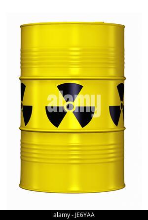 Barrel with radioactive waste, - Stock Photo