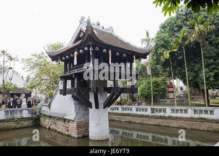 Vietnam, Hanoi, one-pillar pagoda, - Stock Photo