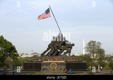 The USA, America, Washington D.C., the US marine corps war memorial, - Stock Photo