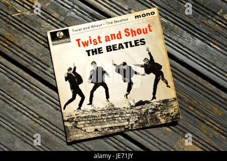 Twist and Shout Record Single first released on 22nd March 1962 on Parlophone label and produced by George Martin. - Stock Photo