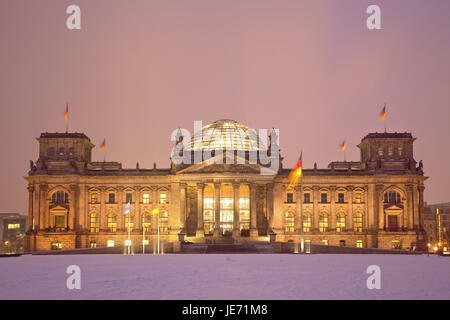 Germany, Berlin, middle, capital, government district, Reichstag, Reichstag building, parliament of the Bundestag, - Stock Photo