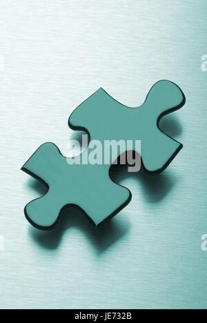 Jigsaw puzzle part, - Stock Photo