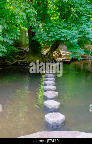 Stepping Stones at Box Hill, Surrey, England - Stock Photo