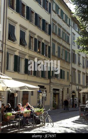 Italy, Tuscany, Florence, Piazza Santo Spirito in l'Oltrarno, street cafe,