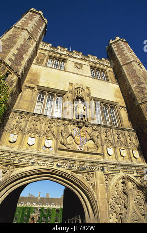 Great Britain, England, Cambridgeshire, Cambridge, Trinity college, Great gates, detail, Europe, town, destination, - Stock Photo