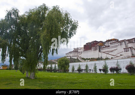 Potala palace in Lhasa, Tibet, Asia, - Stock Photo