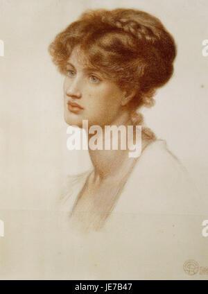 Dante Gabriel Rossetti - Marie Spartali Stillman - Stock Photo