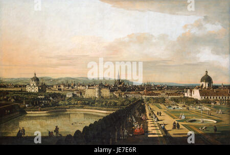 Bernardo Bellotto, called Canaletto - Vienna Viewed from the Belvedere Palace - - Stock Photo