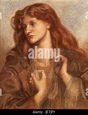 Dante Gabriel Rossetti - Alexa Wilding (1874) - Stock Photo