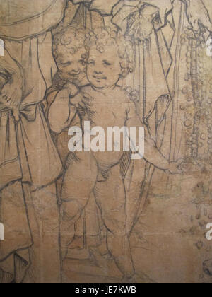 Beccafumi, cartone per pavimento duomo diena, 1529-1531, 04 - Stock Photo
