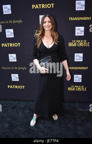 New York, USA. 22nd June, 2017. Saffron Burrows at Saks Fifth Avenue Emmy Red Carpet Event Celebrating Potential - Stock Photo