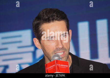 Shanghai, Shanghai, China. 22nd June, 2017. Shanghai, CHINA-June 22 2017: (EDITORIAL USE ONLY. CHINA OUT) .Actor - Stock Photo