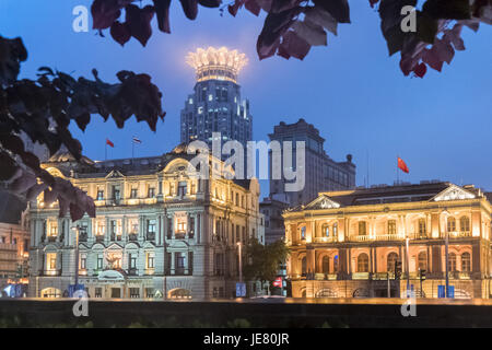 Shanghai, Shanghai, China. 22nd June, 2017. Shanghai, CHINA-June 22 2017: (EDITORIAL USE ONLY. CHINA OUT).Night - Stock Photo
