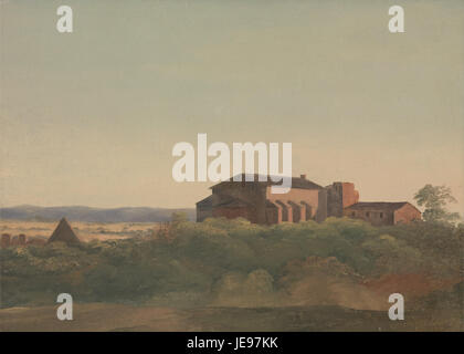 Charles Lock Eastlake - A View of the Church of S. Sabina and the Pyramid of Cestius, Rome - - Stock Photo
