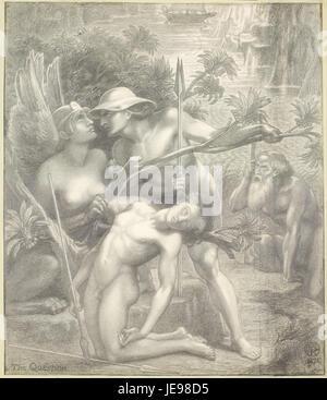 Dante Gabriel Rossetti - The Question, the Sphinx - - Stock Photo