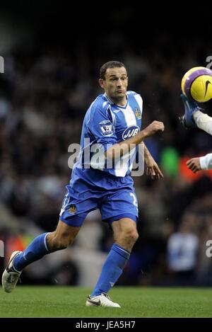 JOSIP SKOKO WIGAN ATHLETIC FC WHITE HART LANE TOTTENHAM LONDON GREAT BRITAIN 11 November 2007 - Stock Photo