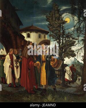 Albrecht Altdorfer - Der heilige Florian nimmt Abschied vom Kloster
