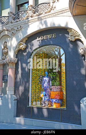 Loewe boutique, Barcelona, Catalonia, Spain - Stock Photo