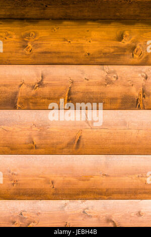 Part of the construction of the cylindrical timber - Stock Photo