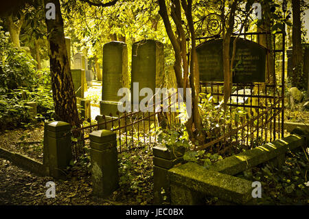 Germany, Hamburg, village Ohls, cemetery, tombs, in 1883, burial ground, recollection, cemetery, memory, memory - Stock Photo