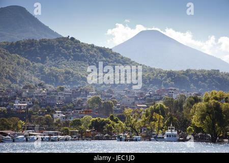 Guatemala, Atitlan lake, Santiago Atitlan, - Stock Photo