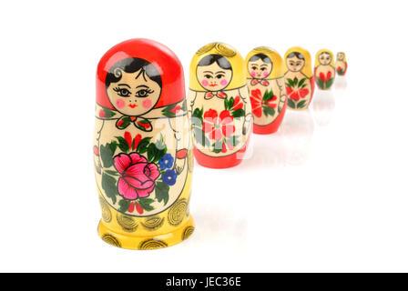 Russian Matroschka, Babuschka doll, - Stock Photo