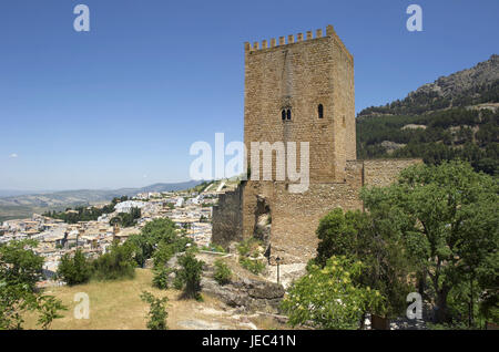 Spain, Andalusia, Sierra de Cazorla, Castillo de la Yedra about the Old Town, - Stock Photo