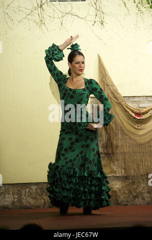 Spain, Andalusia, flamenco, dancer in the Tablao Cardenal, - Stock Photo
