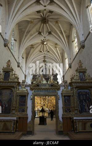 Spain, Castile and Leon, Burgos, Carthusian monastery, Cartuja de Miraflores, interior design, - Stock Photo