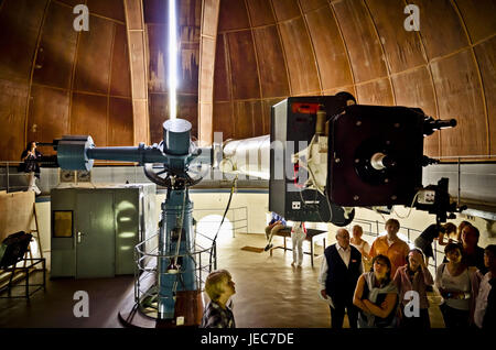 Germany, Hamburg, mountain village, Gojenbergsweg, observatory, refractor, - Stock Photo
