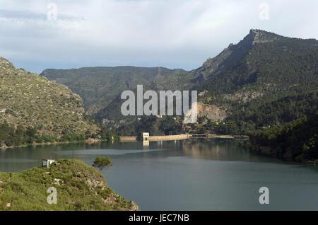 Spain, Andalusia, Sierra de Cazorla, Tranco de Beas, reservoir, - Stock Photo