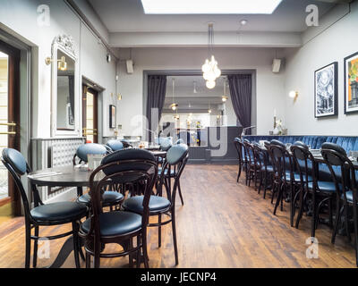 Dining room at Browns Restaurant in Cambridge UK - Stock Photo