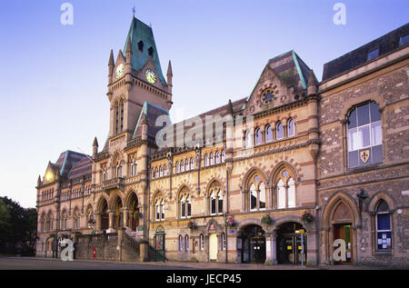 Great Britain, England, Hampshire, Winchester disk, Guildhall, evening light, Europe, town, destination, place of - Stock Photo