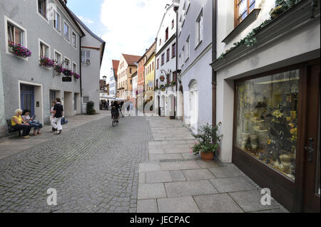Germany, Bavaria, to feet, city centre, street, passers-by, - Stock Photo